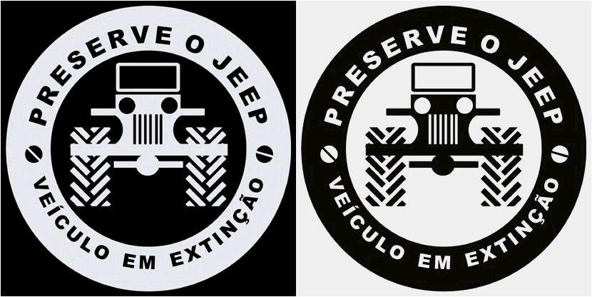 Adesivos: Preserve os Jeeps - Veículos em Extinção