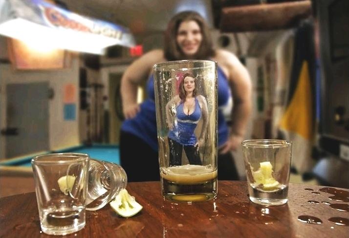Visão distorcida pelo consumo excessivo de álcool