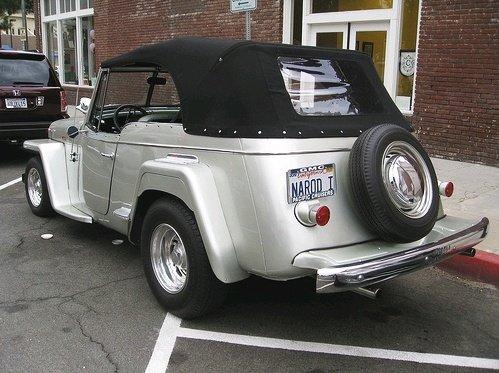 Jeep prata capota preta Jeepster
