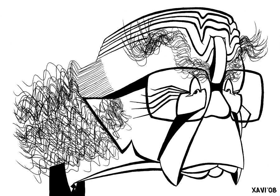 José Saramago - caricatura