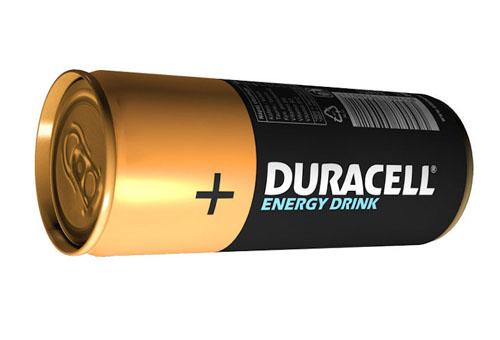 Pilha e bateria - bebida energética