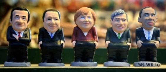 Caganers - Sarkozy, Berlusconi, Merkel, Brown e Obama