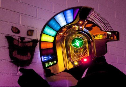 Capacete máscara Daft Punk