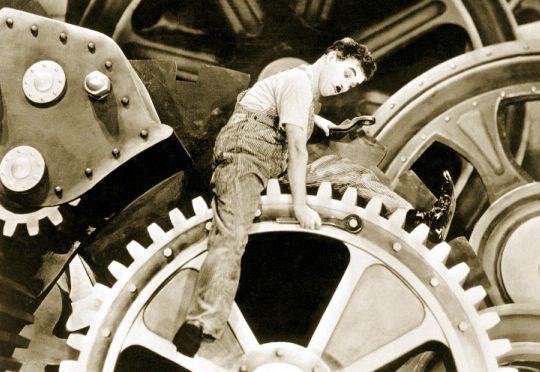 Charles Chaplin - Filme Tempos Modernos 1936