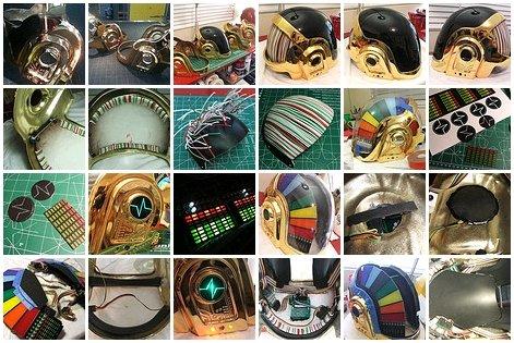 Fabricação de capacete máscara Daft Punk