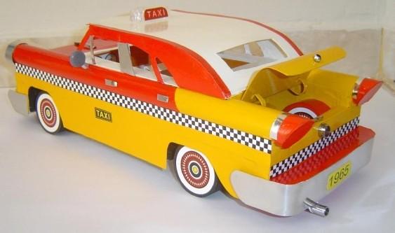 Miniatura de táxi - papelão e plástico