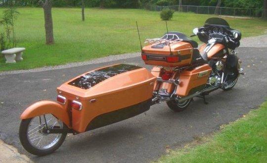 Motocicleta com reboque