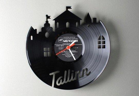 Relógio de parede - disco de vinil - reciclagem