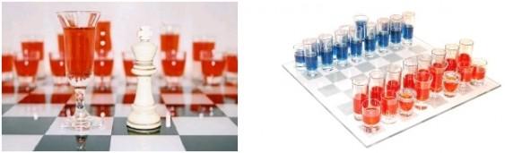 Drinks com jogo de xadrez