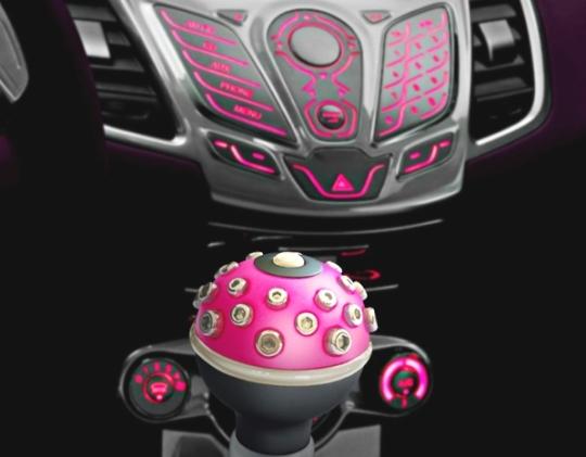 Manopla de câmbio bola universal rosa pink