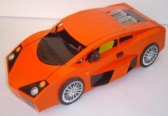 Réplica em miniatura de carro super esportivo