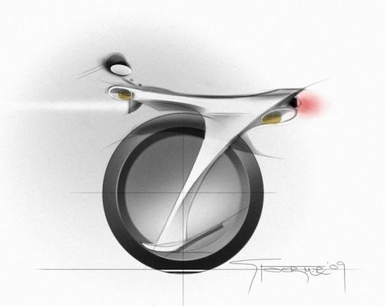 Ryno - motocicleta conceito de uma roda