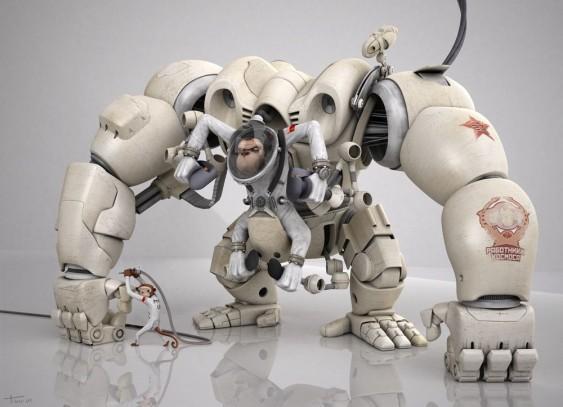 Robô Macaco Futurista