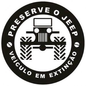 Adesivo - Preserve o Jeep, veículo em extinção
