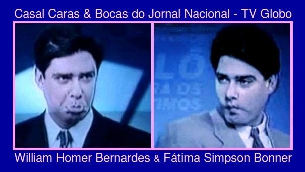 Casal Caras & Bocas do Jornal Nacional da TV Globo