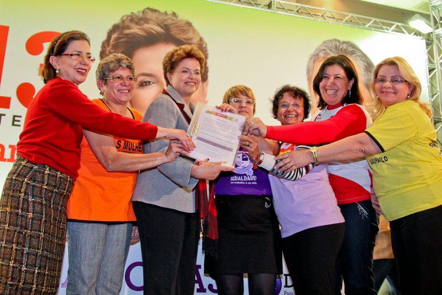 Dilma - apoio das mulheres