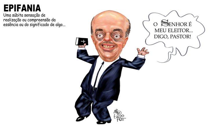 José Serra - exploração política da fé e da religião