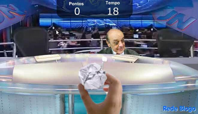 Jogo online: taque uma bolinha de papel no careca