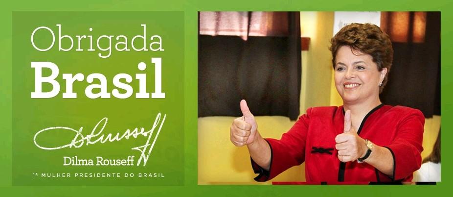 O agradecimento de Dilma