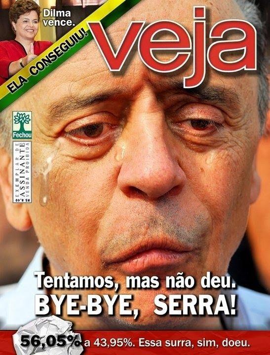 Praga na capa da Veja - Bye-bye Serra Forever