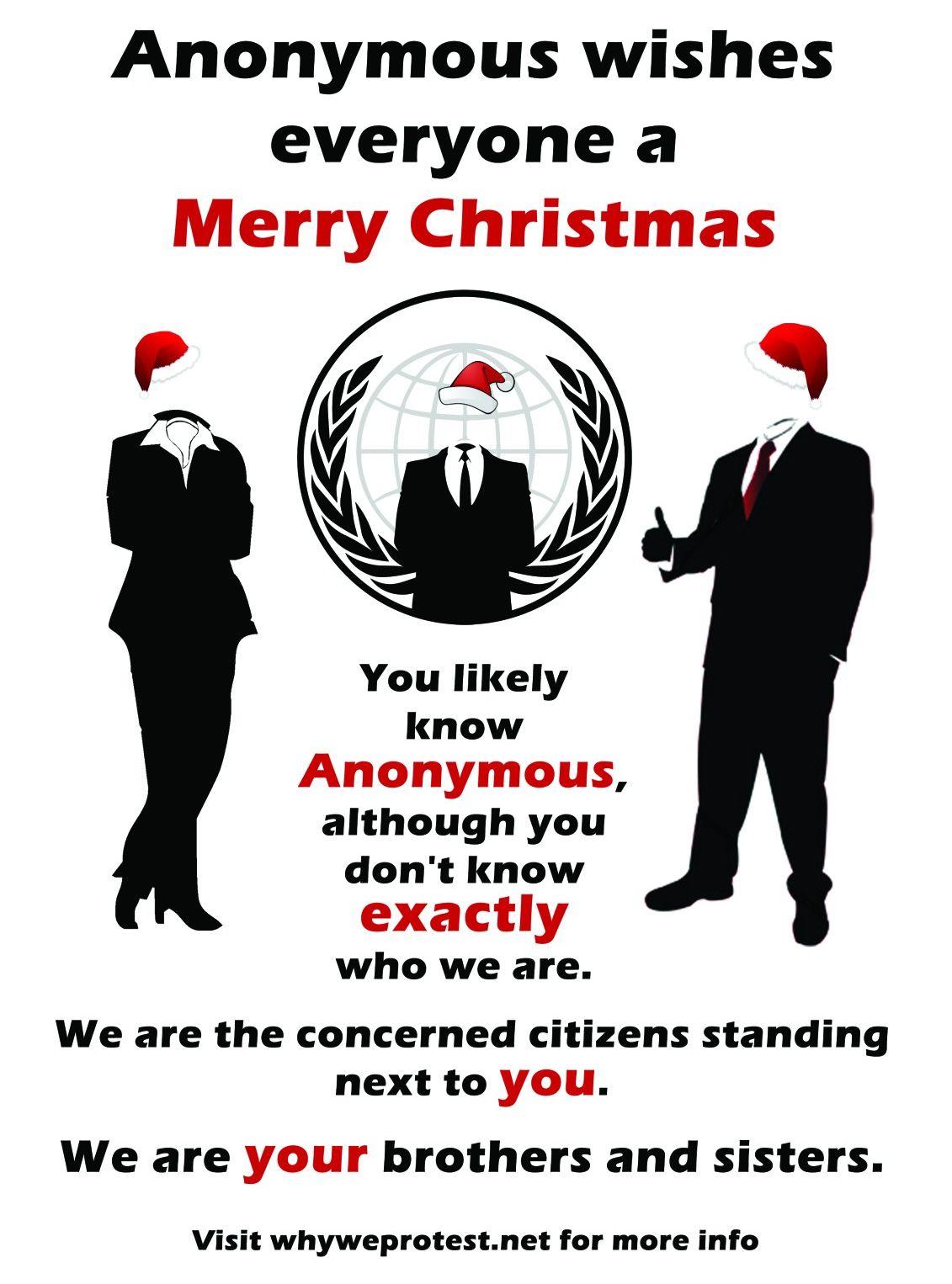 Anonymous - mensagem de Natal