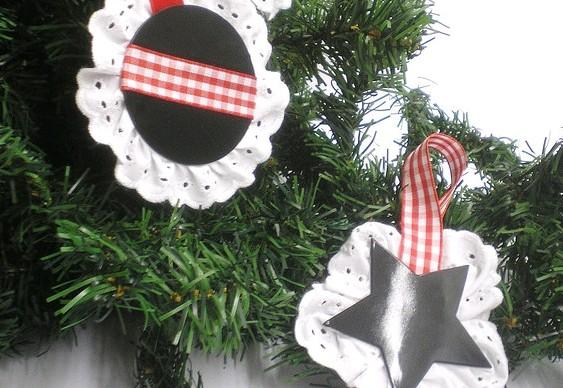 Discos vinil reciclados - enfeites Natal