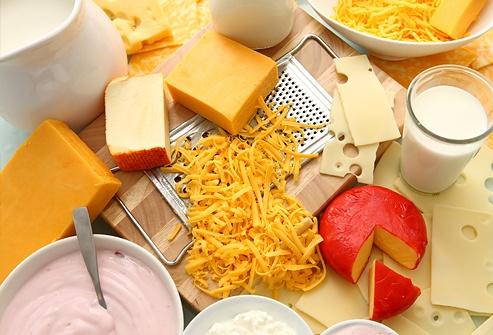 Laticínios: leite, queijos e iogurte