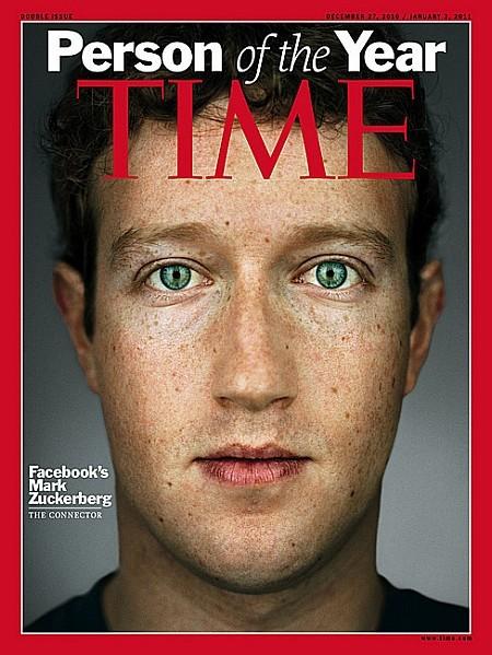 Mark Zuckerberg, do Facebook, na Time Magazine