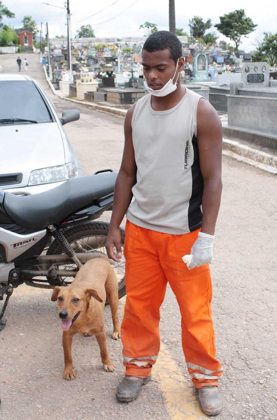 """Cão """"herói"""" Caramelo e o verdadeiro dono"""