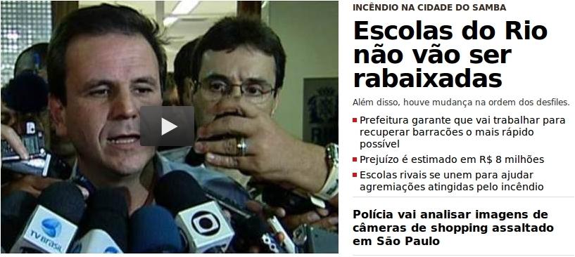 Erro na manchete do Globo