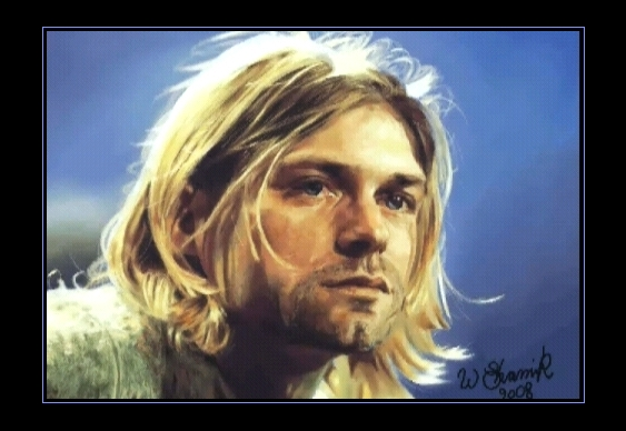 Retrato de Kurt Cobain, do Nirvana