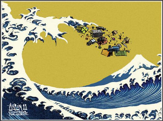 Tsunami e terremoto no Japão - Cartum