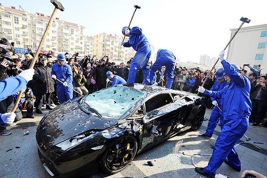 Lamborghini Gallardo - DESTRUIÇÃO