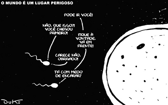 Charges e cartuns - Espermatozoides
