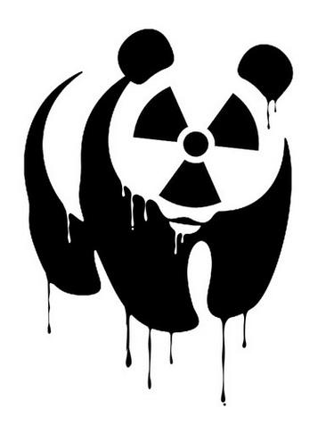 Panda - radioatividade - cartum