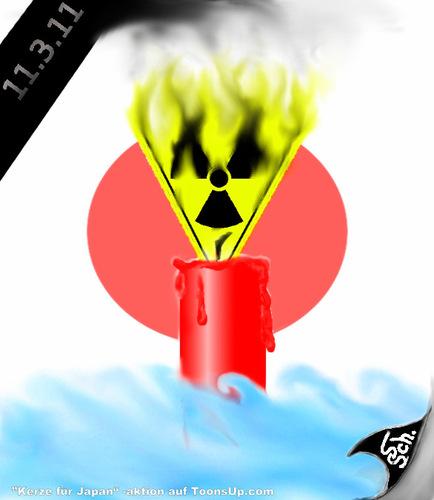 Tragédia nuclear Japão - charge