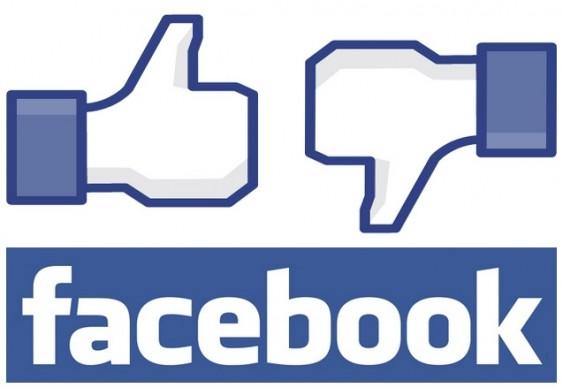 Facebook - botões de Curtir e Não Curtir
