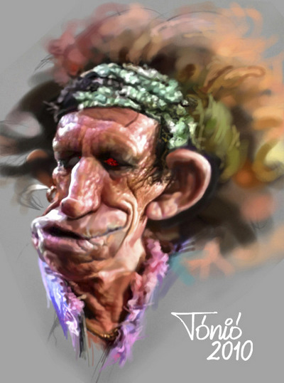 Keith Richards - caricatura