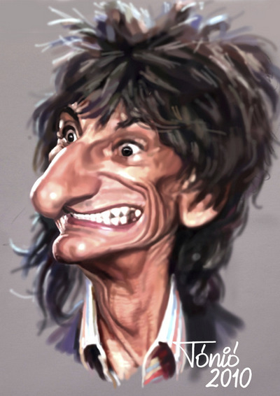 Ronnie Wood - caricatura