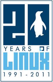 20 Anos Linux - Logo