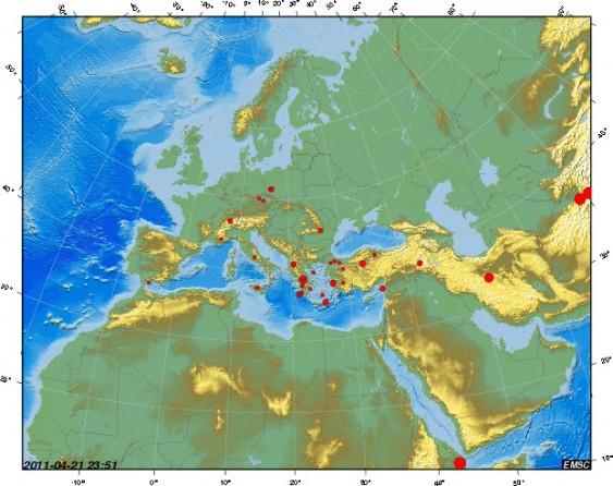 Zona de fogo na Europa