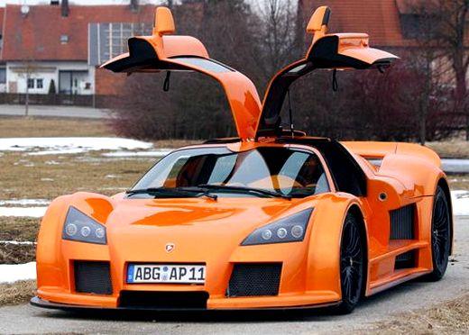 Automóvel super esportivo de luxo