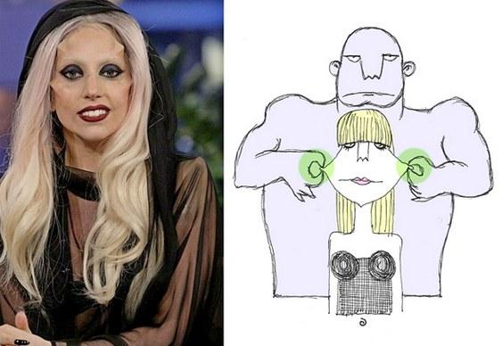 Lady Gaga chifruda