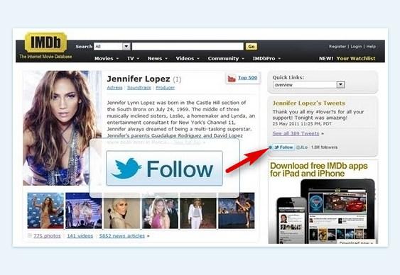 Twitter - novo botão Follow