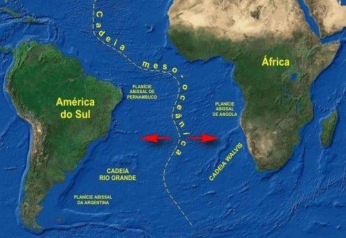 Placas sul-americana e africana
