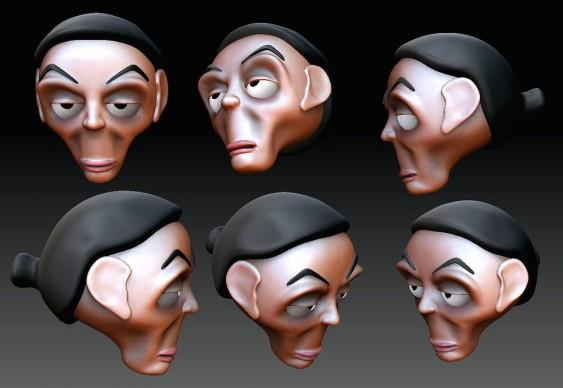Charge 3D Marina Silva