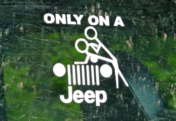Sexo no Jipe - adesivo Only in a Jeep