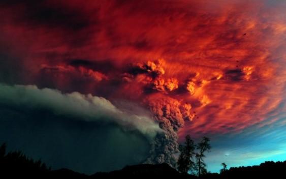 Cinzas do vulcão chileno