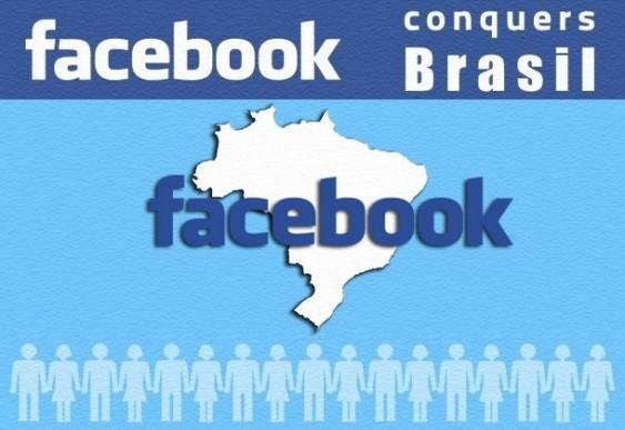 Facebook cresce no Brasil