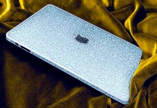 Brilhantes e ouro - iPad mais caro do mundo